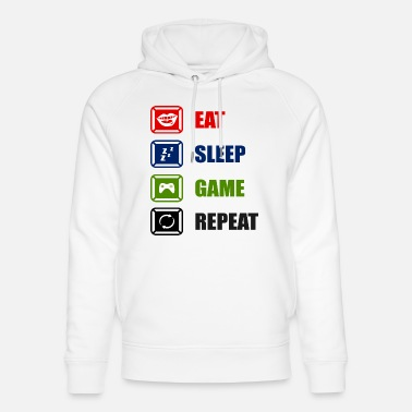 Video Eat Sleep Game Repeat - Unisex Organic Hoodie