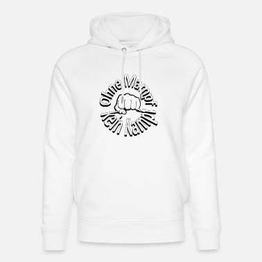 Fighting No fight no fight - fist - Unisex Organic Hoodie