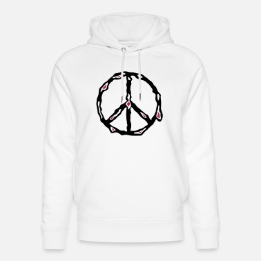 Peace - melting peace sign - Unisex Organic Hoodie