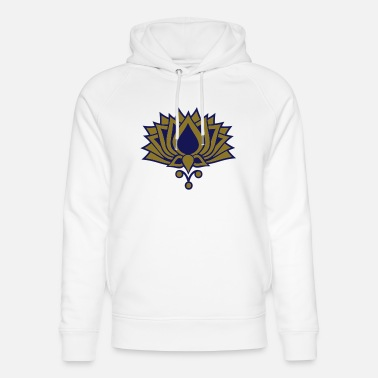 Silt LOTUS FLOWER/ 2c / symbol of the enlightenment / - Unisex Organic Hoodie