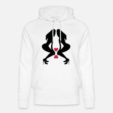 Silhouette Underwear ۞»♥Sexy Twin women on Killer Stilettos♥«۞ - Unisex Organic Hoodie