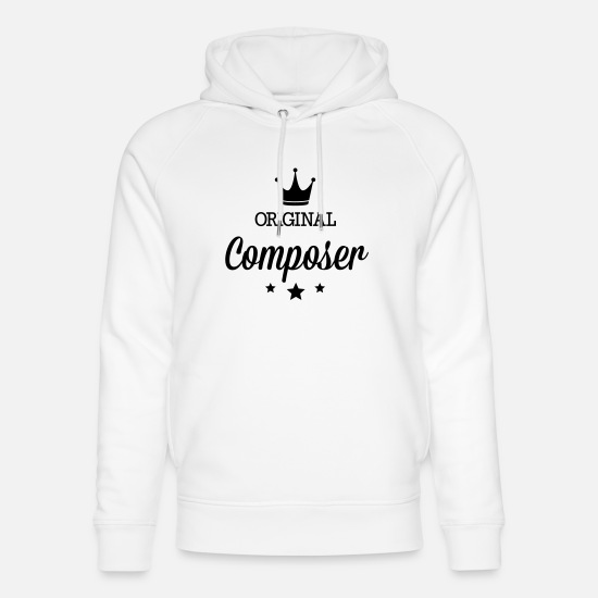 Rap Hoodies & Sweatshirts - Original three star deluxe composer - Unisex Organic Hoodie white