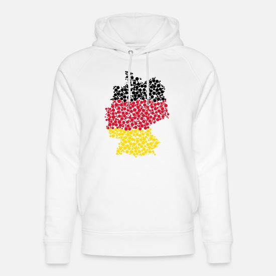 Federal Republic Of Germany Hoodies & Sweatshirts - Germany - points - Unisex Organic Hoodie white