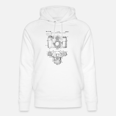 Vintage Vintage camera - drawing of an old camera - Unisex Organic Hoodie