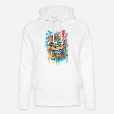 Moreno PD Moreno cat with glasses - Unisex Organic Hoodie