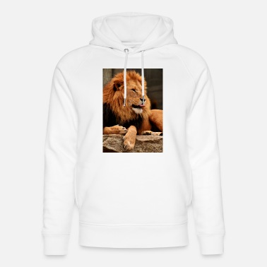 Stick Out Lion sticks tongue out - Unisex Organic Hoodie
