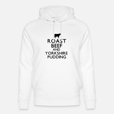 Roast Beef and Yorkshire Pudding - Unisex Organic Hoodie