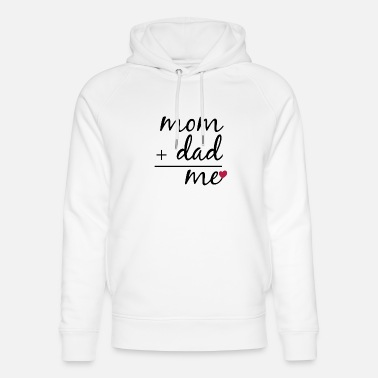 Plus Mom plus dad me - Unisex Bio Hoodie