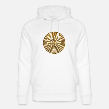Labyrinth Man in the Maze, Journey through life, I'itoi, Pap - Unisex Bio Hoodie