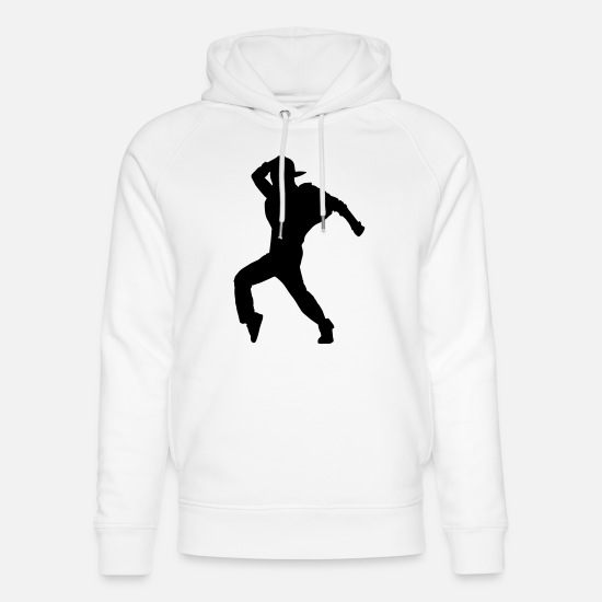 Party Felpe - hip hop dancer - Felpa con cappuccio ecologica unisex bianco