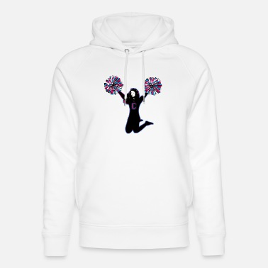 Cheerleader A sporty cheerleader with pompoms - Unisex Organic Hoodie