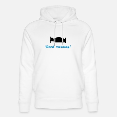 Vektor wood morning - Unisex Bio Hoodie