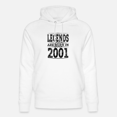 Legend legends are born in 2001 black - Unisex Organic Hoodie