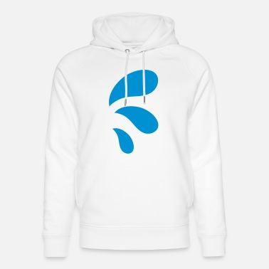 Water Droplets three curvy water blue droplets - Unisex Organic Hoodie