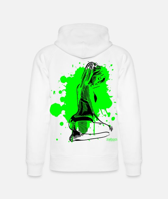 Sportgirl Hoodies & Sweatshirts - 2reborn sexy underwear model dream woman - Unisex Organic Hoodie white