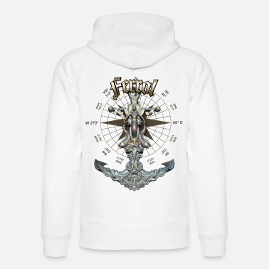 Ferrol Anchor Nautical Sailing Boat Summer - Unisex Organic Hoodie