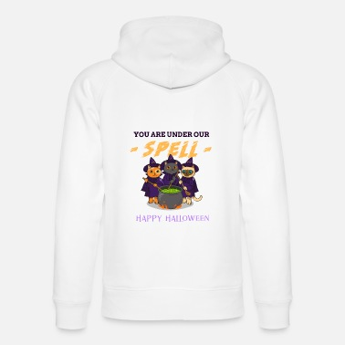 Custom halloween t shirt spell happy Haloween - Unisex Organic Hoodie