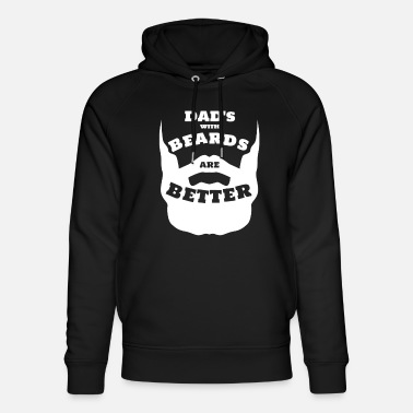 Bart DAD with Beard's zijn Better Daddy Father's Day Beard - Uniseks bio hoodie