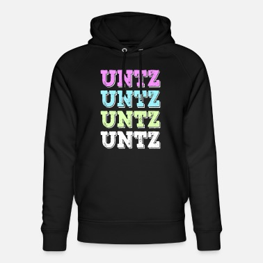 Funk UNTZ techno rocker rave party trance - Uniseks bio hoodie