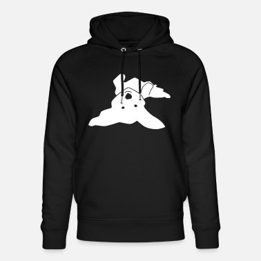 Havanese on his back - Unisex Organic Hoodie