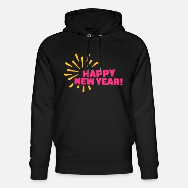 Happy New Year Happy New Year - Unisex hoodie af økologisk bomuld