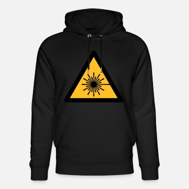 Hazard Symbol - Laser Light (2-color) - Unisex Organic Hoodie
