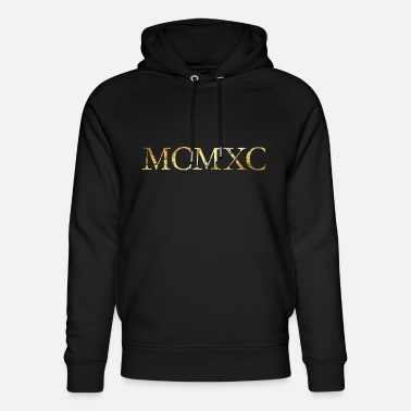 MCMXC (Vintage Golden Yellow) 1990 30th birthday - Unisex Organic Hoodie