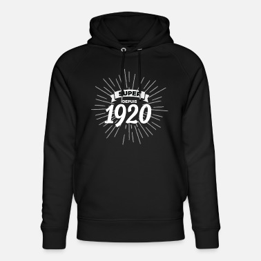 Since 1920 Great since 1920 - Unisex Organic Hoodie