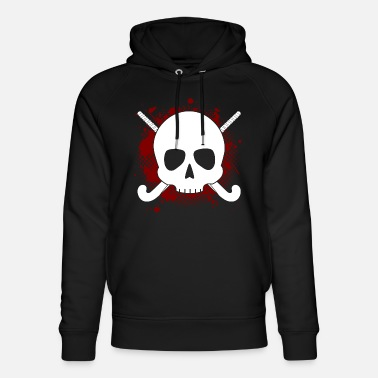 Sticks Skull Field Hockey Gift Field Hockey Player Ges - Unisex Organic Hoodie