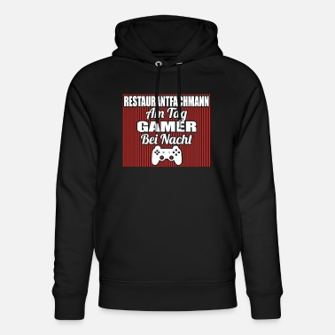 Restaurantfachmann Gambling on the day Gamer night RESTAURANTFACHMANN png - Unisex Organic Hoodie