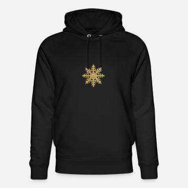 Poinsettia Poinsettia in gold - Unisex Organic Hoodie