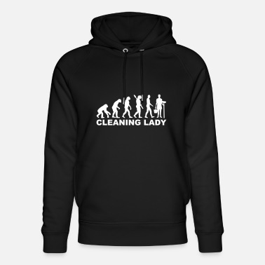 Clean What It Is cleaning woman - Unisex Organic Hoodie