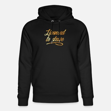 Drivers License Driver's license Ticket Driver's license Gift - Unisex Organic Hoodie