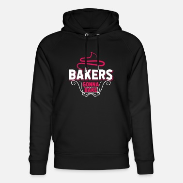 Baker Bakers at work bake bun bread wheat - Unisex Organic Hoodie