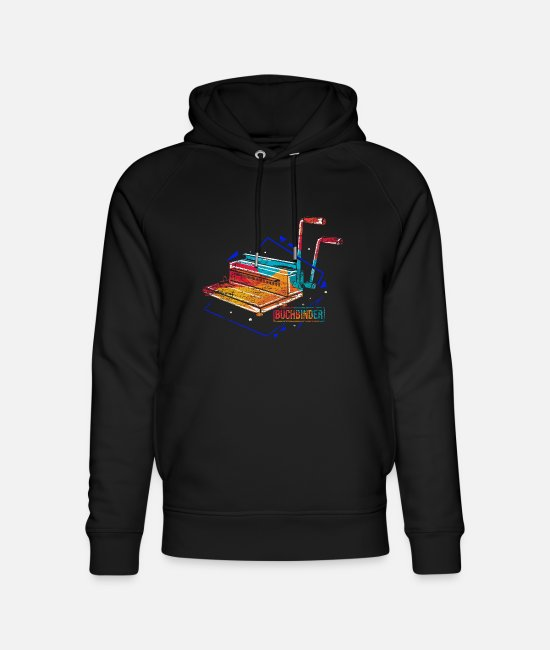 Read Hoodies & Sweatshirts - Bookbinder polygon gift - Unisex Organic Hoodie black