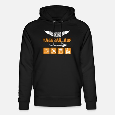Fighter Normal daily routine pilot Luftwaffe military pilot - Unisex Organic Hoodie