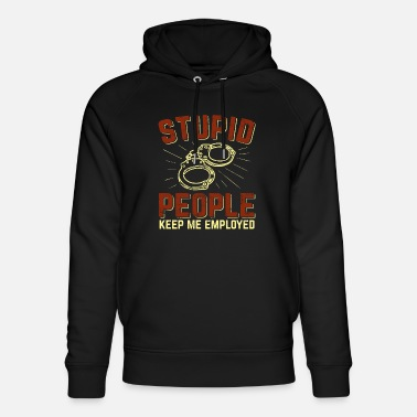 Policeman Police officer enforcement officer - Unisex Organic Hoodie