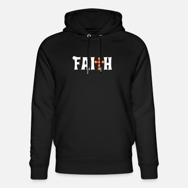 Christlich Faith Cross Christian Design Parade - Unisex Bio Hoodie