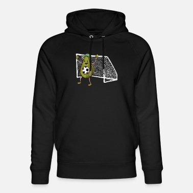 Soccer avocado player sport gift - Unisex Organic Hoodie