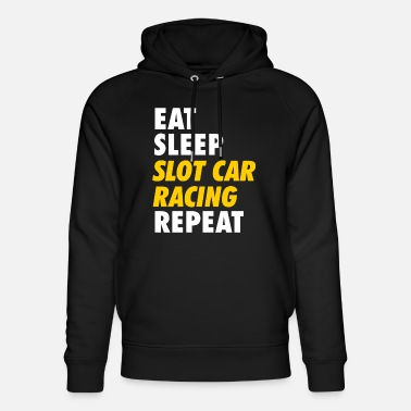 Model Eet Sleep Slot Car Racing Repeat T-shirt - Uniseks bio hoodie