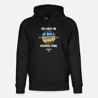 Geografi Yellowstone National Park Woming USA - Ekologisk luvtröja unisex