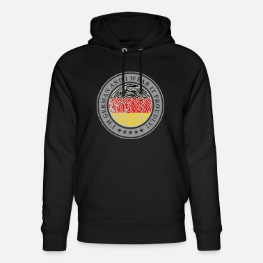 To Show The Flag Germany flag fingerprint pride home - Unisex Organic Hoodie