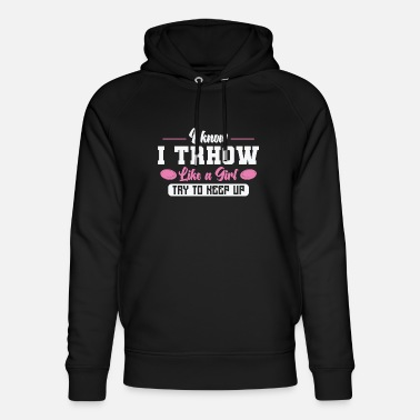 Sleep Disc golf throw like a girl - Unisex Organic Hoodie