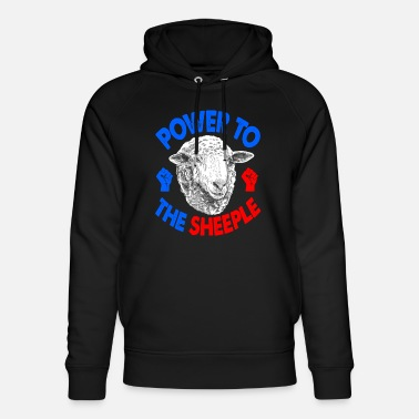 Power To The Sheeple Power Cute Fluffy Sheep Fun G - Sudadera con capucha ecológica unisex