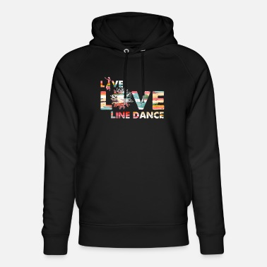 Country Live Love Line Dance Cowboy Country Music Gift - Unisex Organic Hoodie