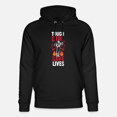 Line Tough Girls Save Lives Girls Firefighter d - Unisex Organic Hoodie