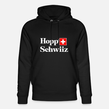 Supporter de fan de football / football suisse blanc - Sweat à capuche bio unisexe