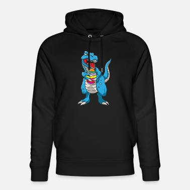 Easter Bunny Dinosaur T-Rex Easter Bunny Happy Easter Gift - Unisex Organic Hoodie