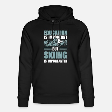 Afterski education ski - Unisex Bio Hoodie