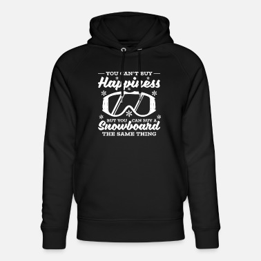 Happiness happiness snowboard winter vacation - Unisex Organic Hoodie